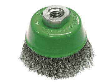 Wire Cup Brush 75mm M14x2, 0.30mm Stainless Steel Wire